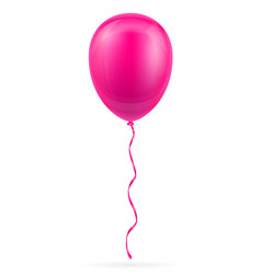 celebratory pink balloon pumped helium with vector image
