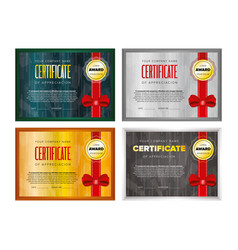 certificate design set vector image