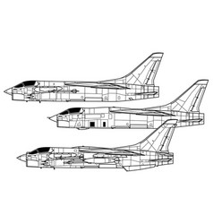 Chance vought f-8 crusader vector