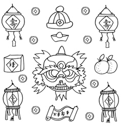Chinese New Year object vector