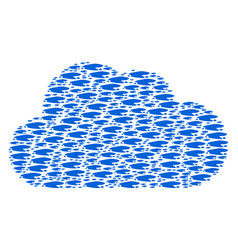 Cloud composition of puddle icons vector
