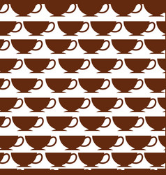 Coffee cup pattern background vector
