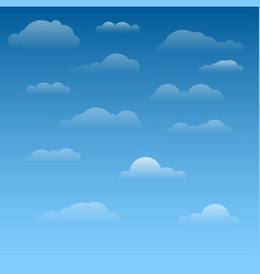 Collection clouds vector