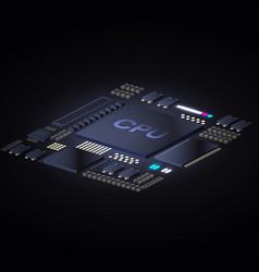 cpu concept design vector image