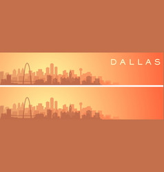 Dallas beautiful skyline scenery banner vector