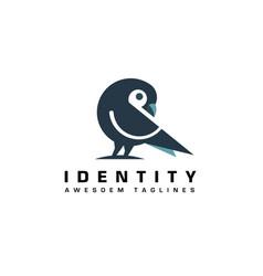 dove or pigeon bird logo vector image