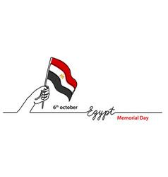 Egypt memorial day background with egyptian flag vector