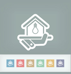 Electricity supply icon vector