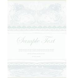elegant abstract vintage frame invitation vector image