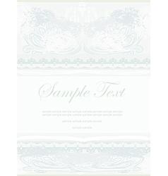 elegant abstract vintage frame invitation vector image
