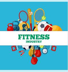fitness industry social media banner vector image