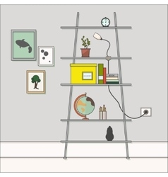 Flat design interior vector image