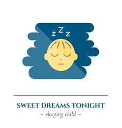 Flat sleep icon vector