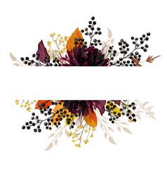 Floral beautiful design card with burgundy dahlia vector