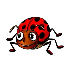 Funny ladybug vector