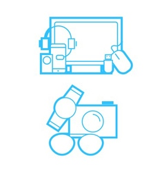 Gadget and technology icons vector