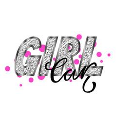 Girl car glamorous graffiti vector