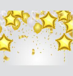 Gold star balloon on background vector