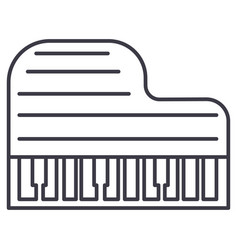 grand piano line icon sign vector image