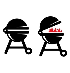 Grill BBQ icon Barbecue grill vector image