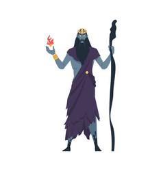 Hades supreme god underworld divine character vector