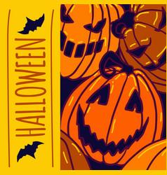 Halloween pumpkin concept background hand drawn vector