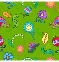 Hand drawing floral seamless pattern vector
