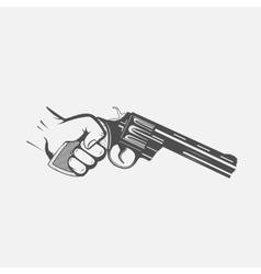 Hand with gun vector