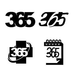 health calendar 365 infinity logo icon design vector image