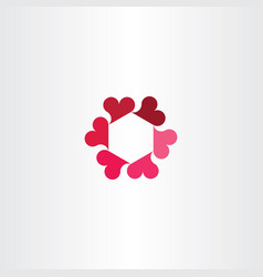Heart circle rotation icon logo love sign vector
