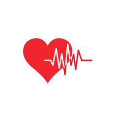 heart pulse icon graphic design template vector image