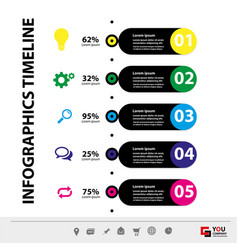 infographic template concept business vector image
