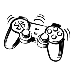 joystick vector image