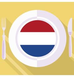 Kitchen of Netherlands vector