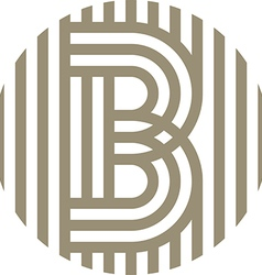 letter line b alphabet design vector image