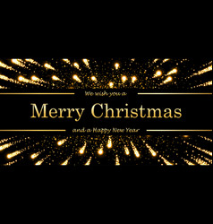 Marry christmas and happy new year card magic vector