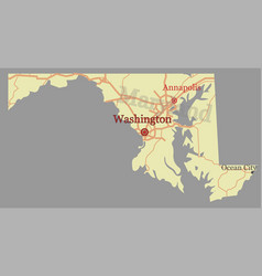 marvland state map with community assistance and vector image
