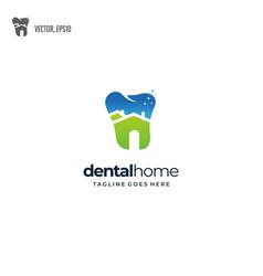 nature dental house logo design vector image