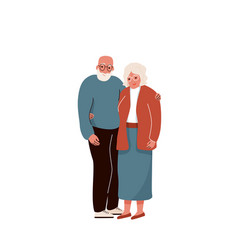 Older couple hug each other background vector