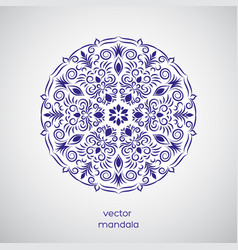 ornamental hand drawn mandala vector image