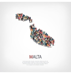 People map country Malta vector