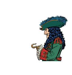 pirate with hook hand vector image