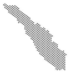 Pixel sumatra island map vector