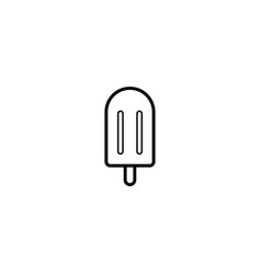 popsicle ice cream icon vector image