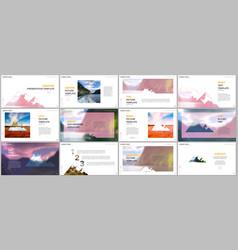 presentations design templates background vector image