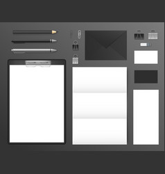 realistic 3d detailed mockup business brand set vector image