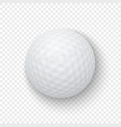 realistic 3d white classic golf ball icon vector image
