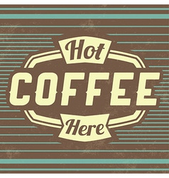 Retro Coffee Vintage Background vector image