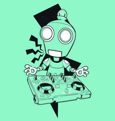 Robot dj vector