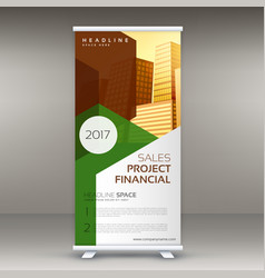 Rollup design template vertical standee vector